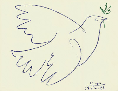 Pable Picasso art drawing Dove
