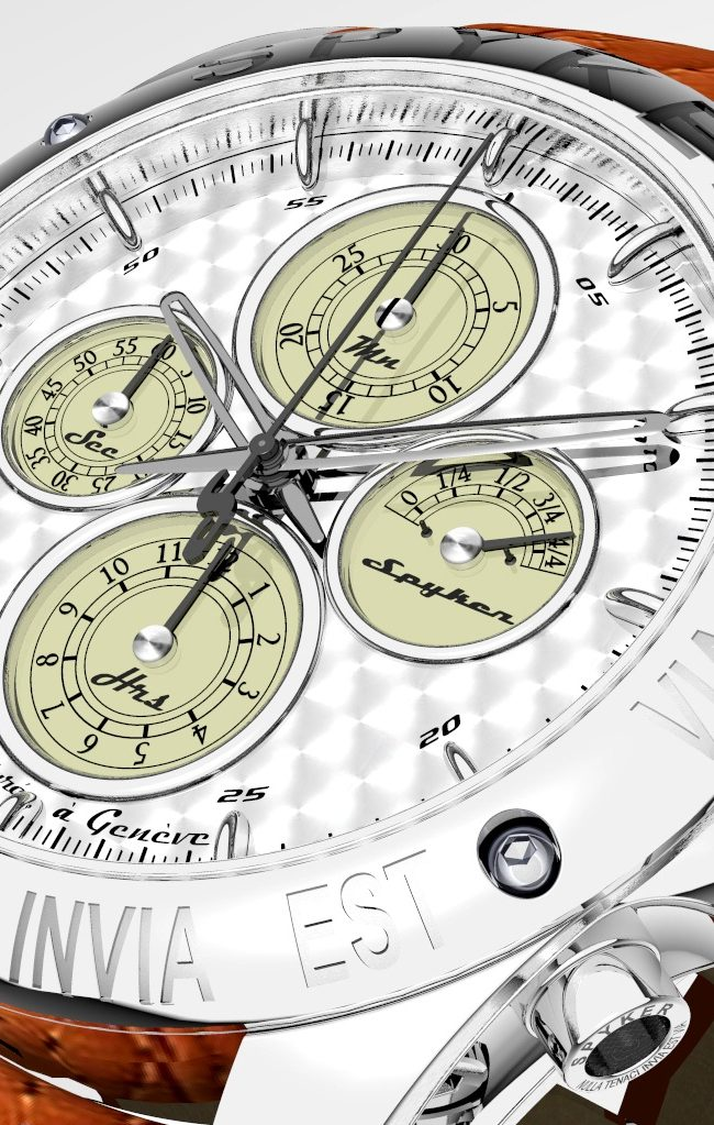 Legendary Spyker Cars' Swiss Watch with Its Unique Aesthetic