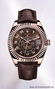 Rolex Sky Dweller Everose gold 186x300 Rolexs Big Basel Reveal   The Sky Dweller Watch   First New Movement in 25 Years!