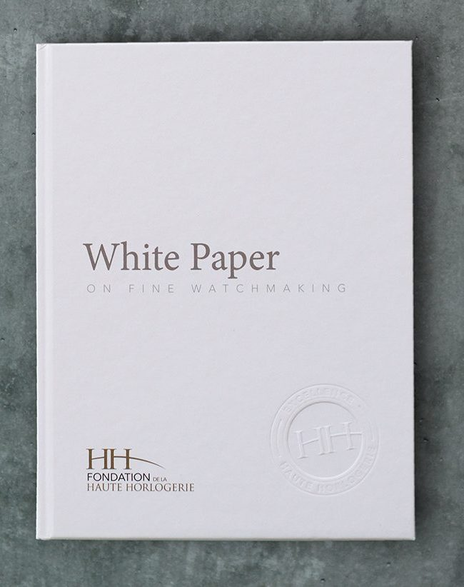 The FHH Releases White Paper on Fine Watchmaking